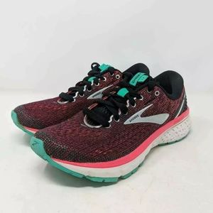 Brooks Womens Ghost 11 Running Shoes Pink 7.5 B